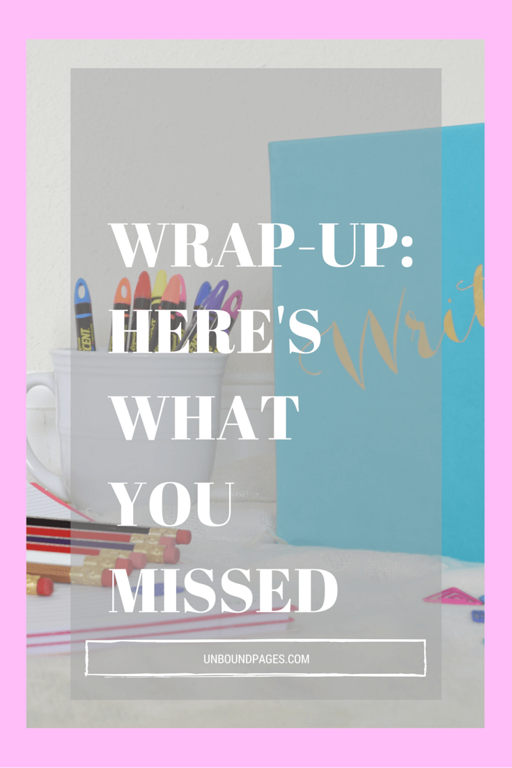 What you missed on the blog and the books I'm looking forward to next month - unboundpages.com