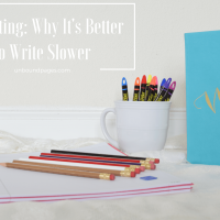 It's Okay to Write Slower (Contrary to Popular Belief)