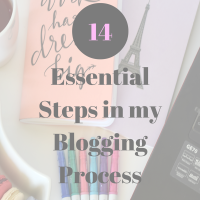 Blogging Process – My 14 Essential Steps