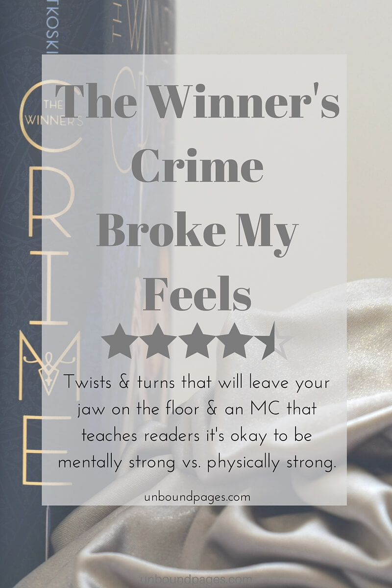 The Winner's Crime by Marie Rutkoski broke my feels. This YA fantasy has such a dangerous world that will leave you on the edge of your seat. Kestrel + Arin =