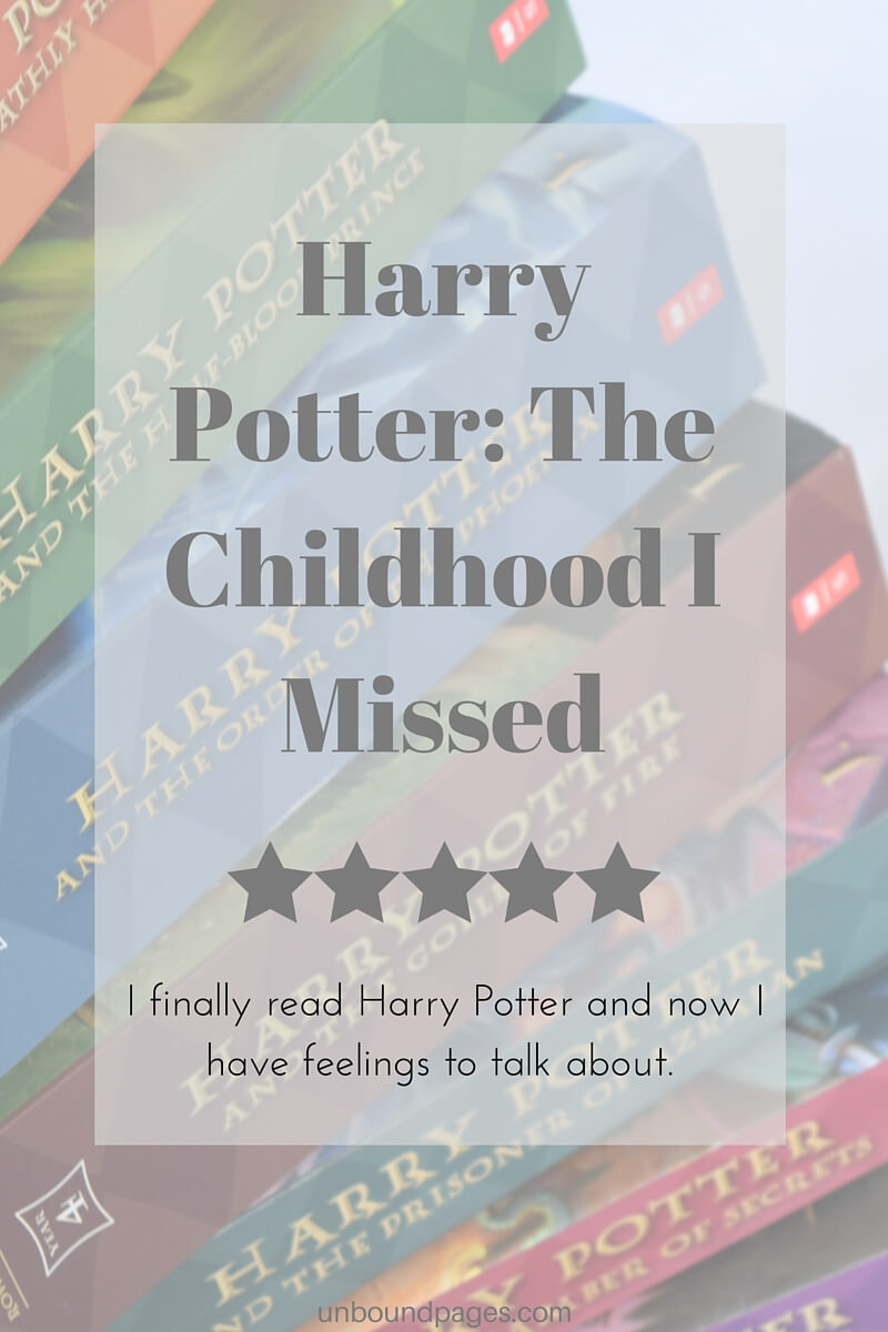 I finally read Harry Potter for the first time and now I have many feelings to discuss - unboundpages.com