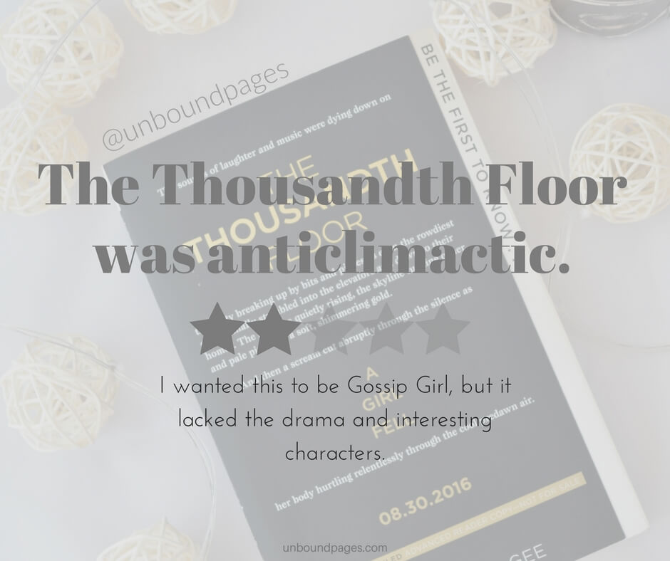 The Thousandth Floor By Katharine Mcgee Unbound Pages