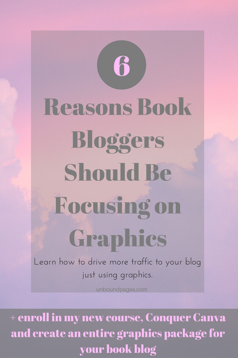 6 Reasons Book Bloggers Should be Focusing on Graphics. Drive more traffic to your blog, convert that traffic to subscribers and get more shares on social media.
