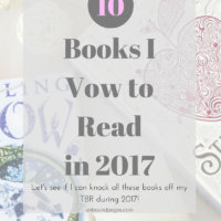 10 Books I Vow to Read in 2017